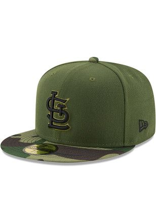 best loved 63a9c cb6aa STL Cardinals New Era Mens Green 2017 Memorial Day AC 59FIFTY Fitted Hat
