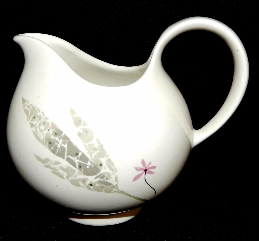 HALLCRAFT Hall China CAPRICE Creamer Eva Zeisel Design Circa 1950 Mid Century Modern Dinnerware Near Mint Condition 4  tall & HALLCRAFT Hall China CAPRICE Creamer Eva Zeisel Design Circa ...
