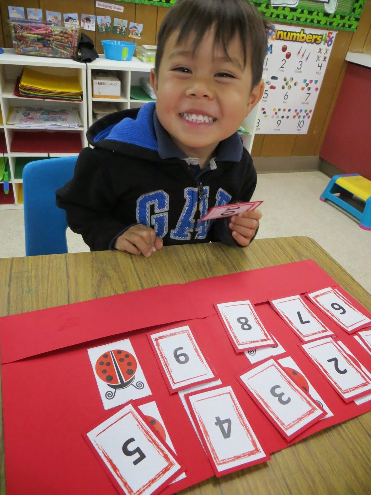 Free Lady Bug Math Activity Counting One To One