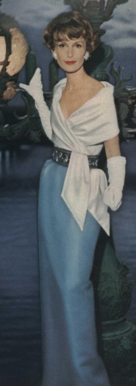 1957 Lanvin Castillo gown