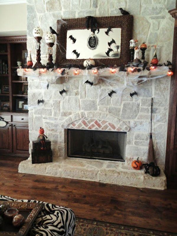 kamin für halloween aus stein   kamin   pinterest   deko, Hause ideen