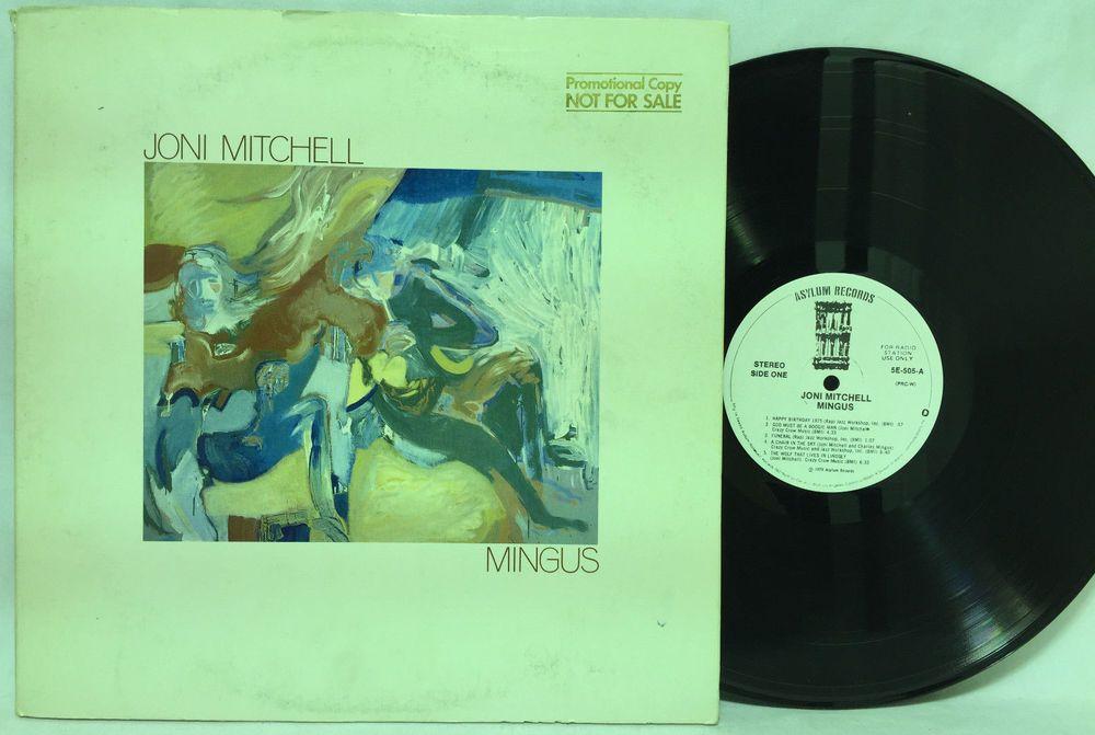 Joni Mitchell Mingus White Label Promo Vinyl Lp Record Asylum