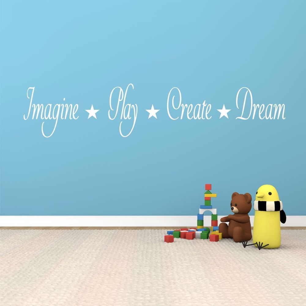 Imagine play create dream wall art decal stickers quality new