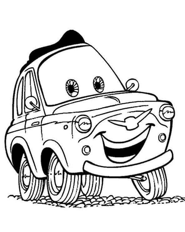 ausmalbilder cars luigi httpwwwlustigeausmalbilder