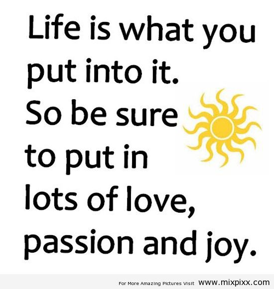 Life Is What You Put Into It