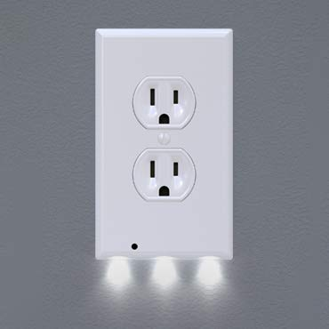 1 Pack Snappower Guidelight Outlet Wall Plate With Led Night Lights No Batteries Or Wires Installs In Seconds Led Night Light Plates On Wall Night Light