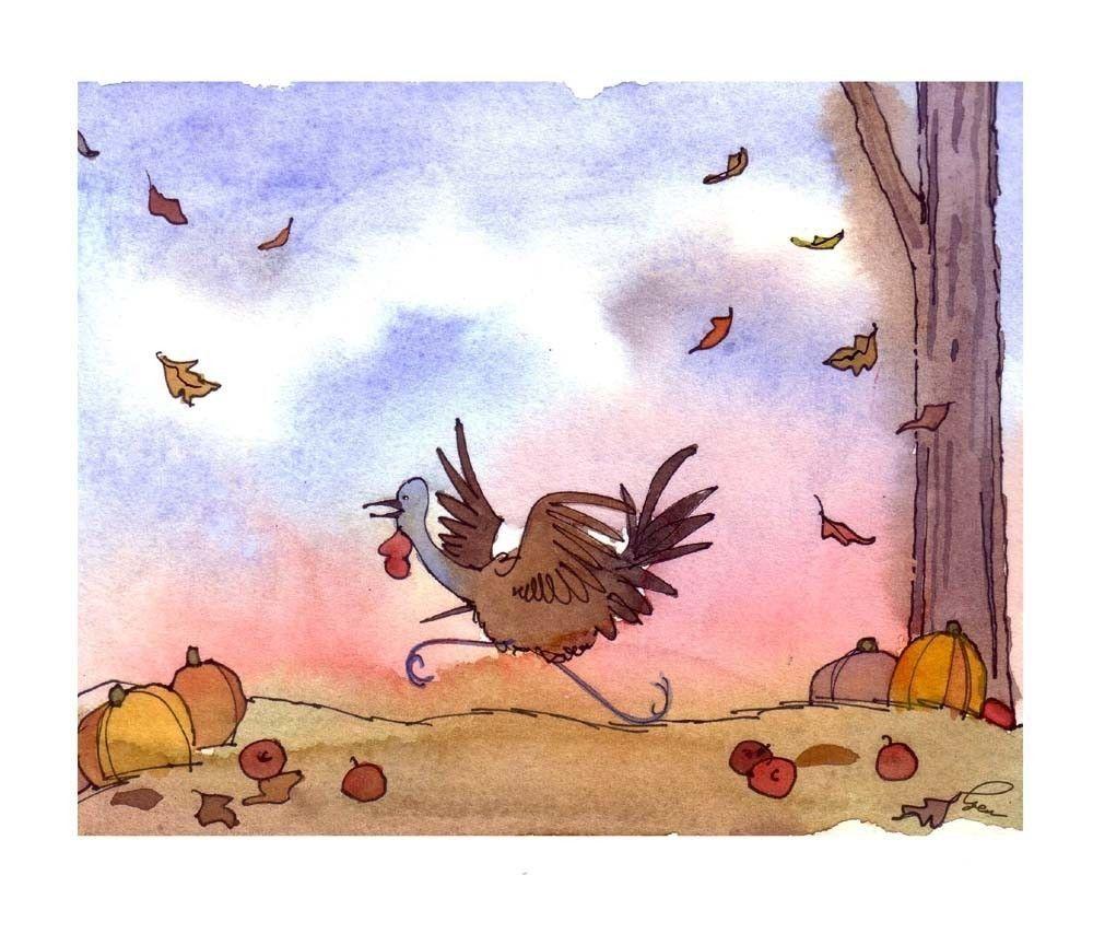 Thanksgiving Card Funny Thanksgiving Turkey Greeting Card Fall