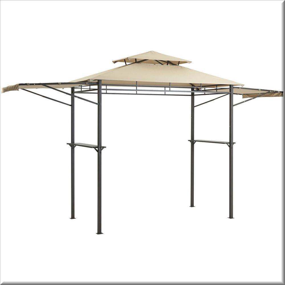 Outdoor Grill Gazebo Patio Canopy Shelter Steel Adjule Awing Fireproof Us 188 85 Outdoorgrillgazebo