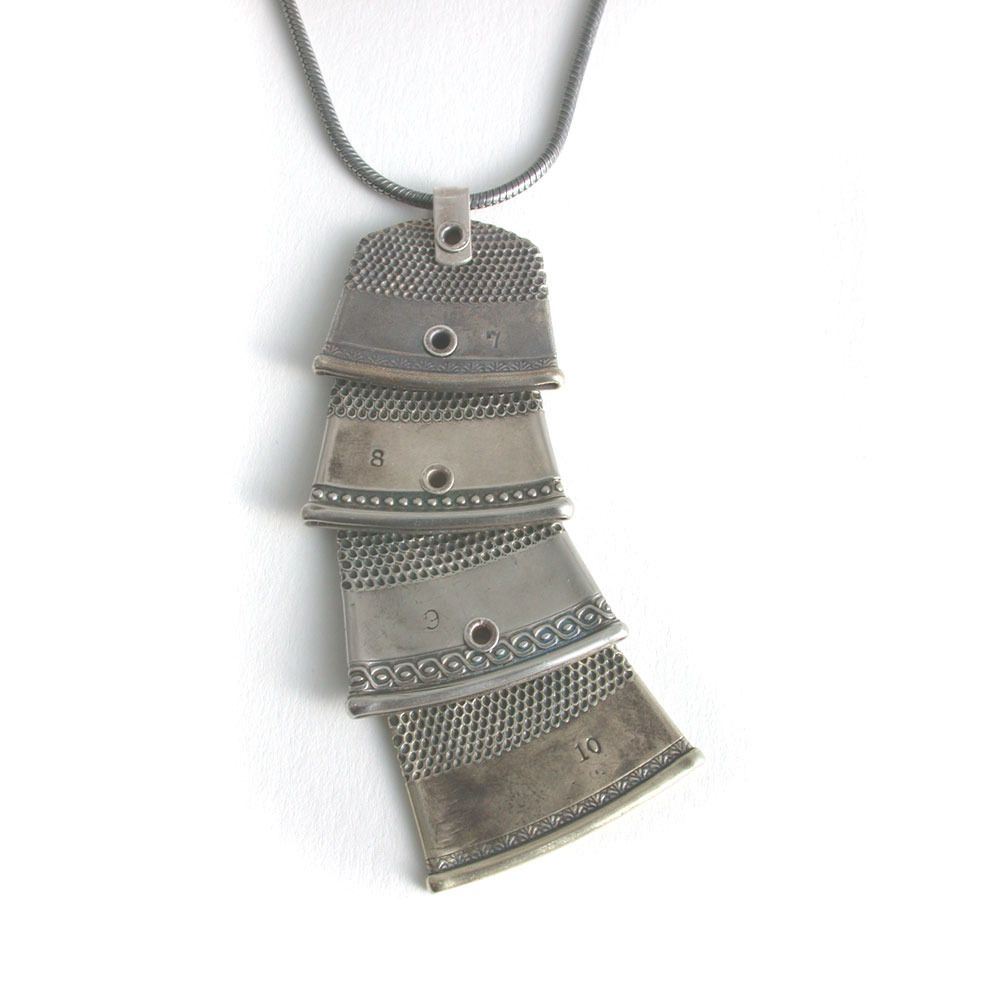 Connie Verrusio - 4 Thimbles necklace