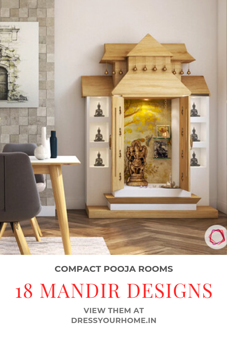 Pooja Room Designs For Flats: 11 Small Pooja Room Designs (With Dimensions) For Your