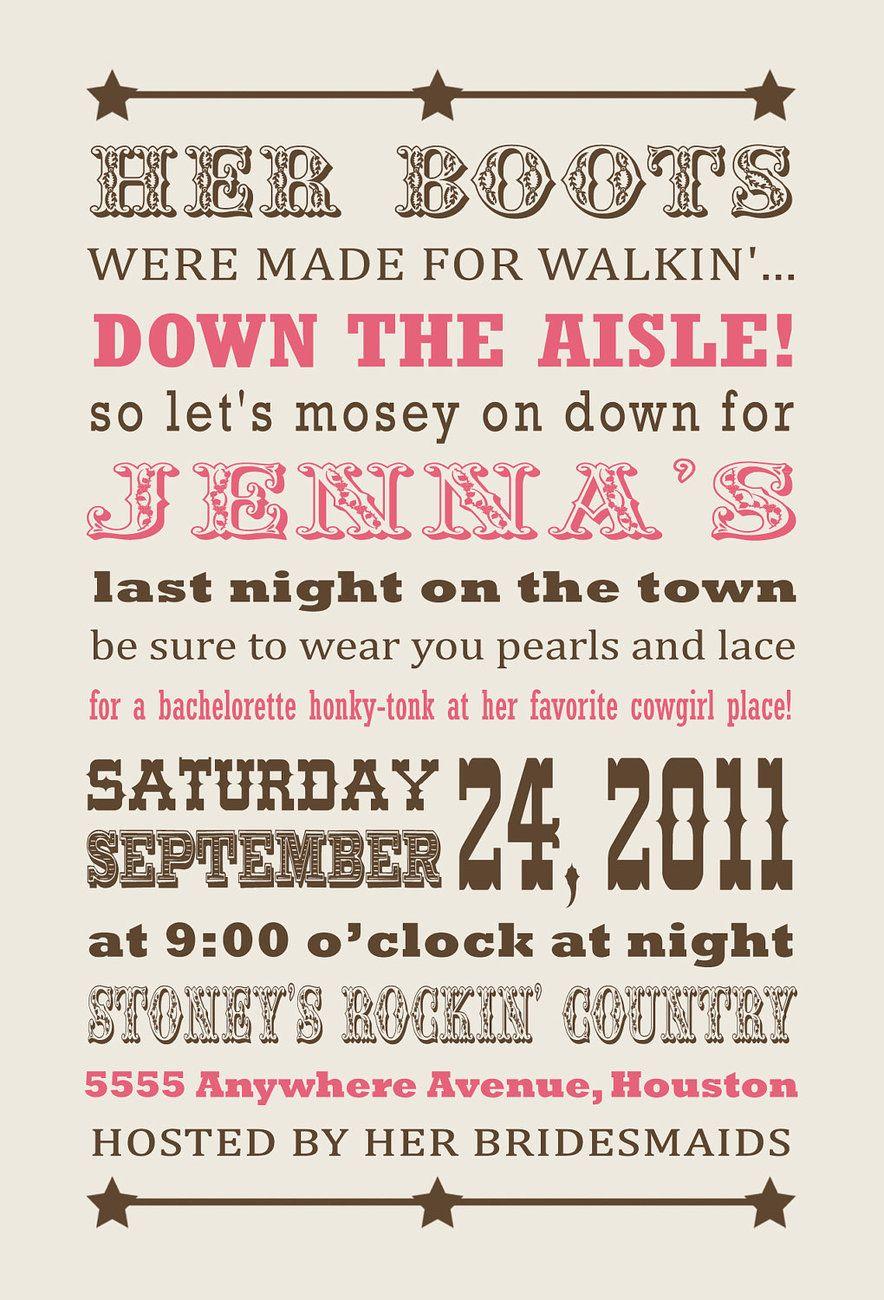 Bachelorette Party Invite Total Theme To My Bachelorette Party