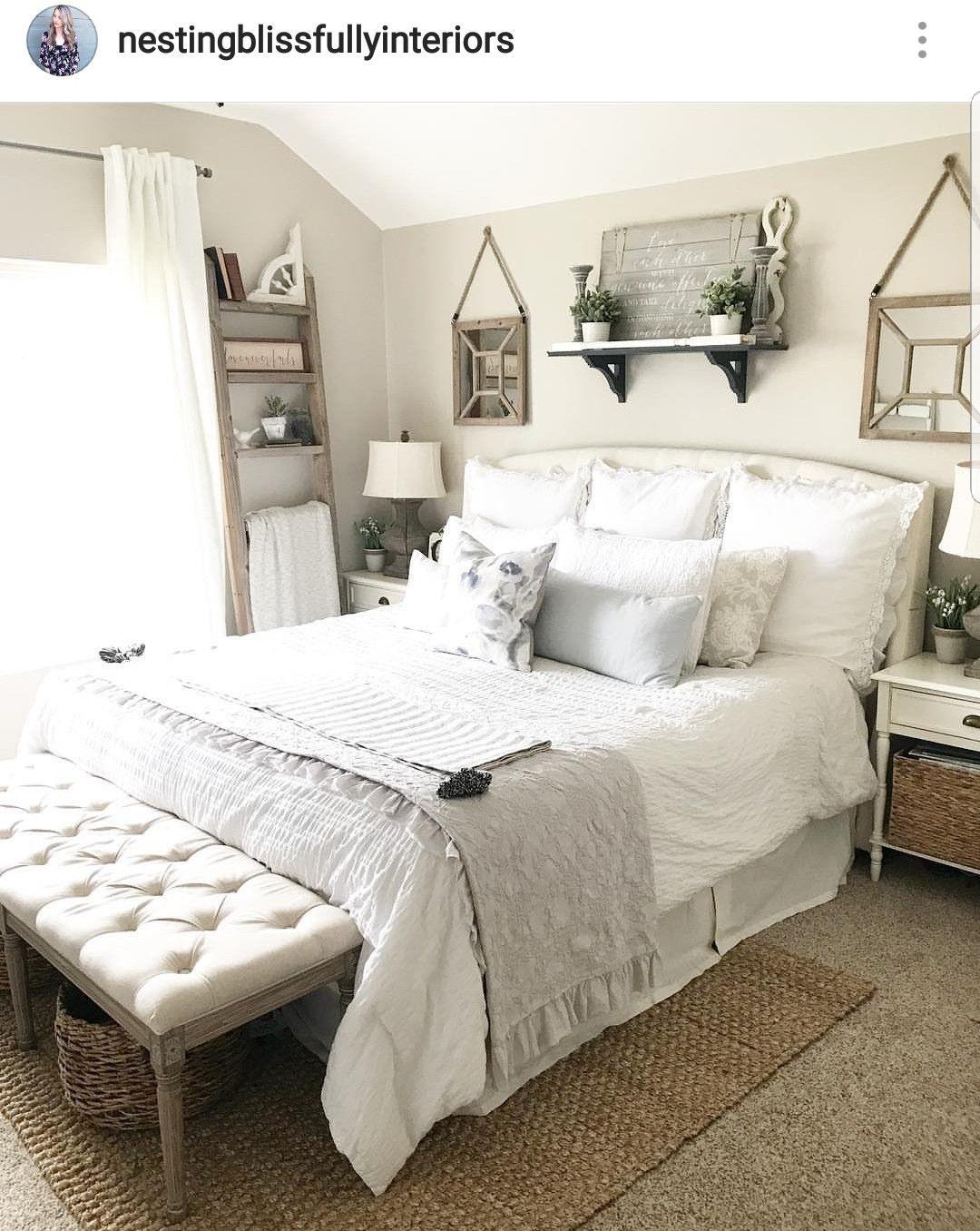 Master bedroom decor  Summer master bedroom decor  Summer Decor  Pinterest  Bedroom