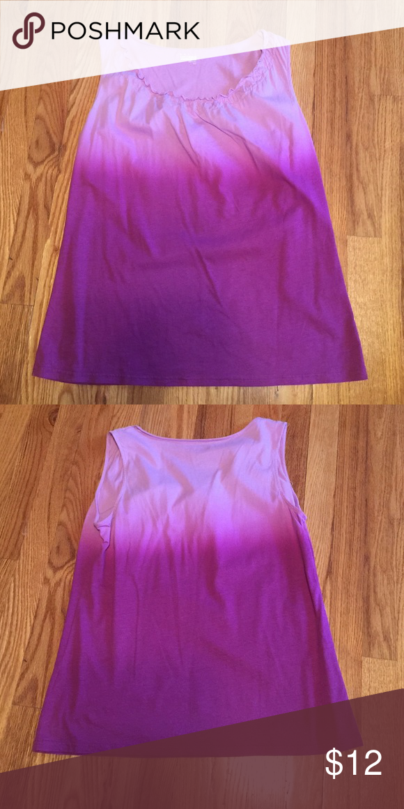 Basic Editions Purple ombré type Tank Size small but fits like a medium/ large , beautiful purple color Basic Editions Tops Tank Tops