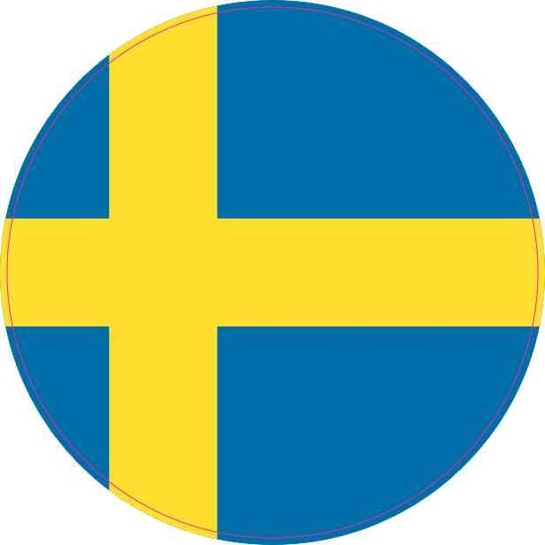 4x4 round sweden flag sticker vinyl vehicle decal travel hobby stickers