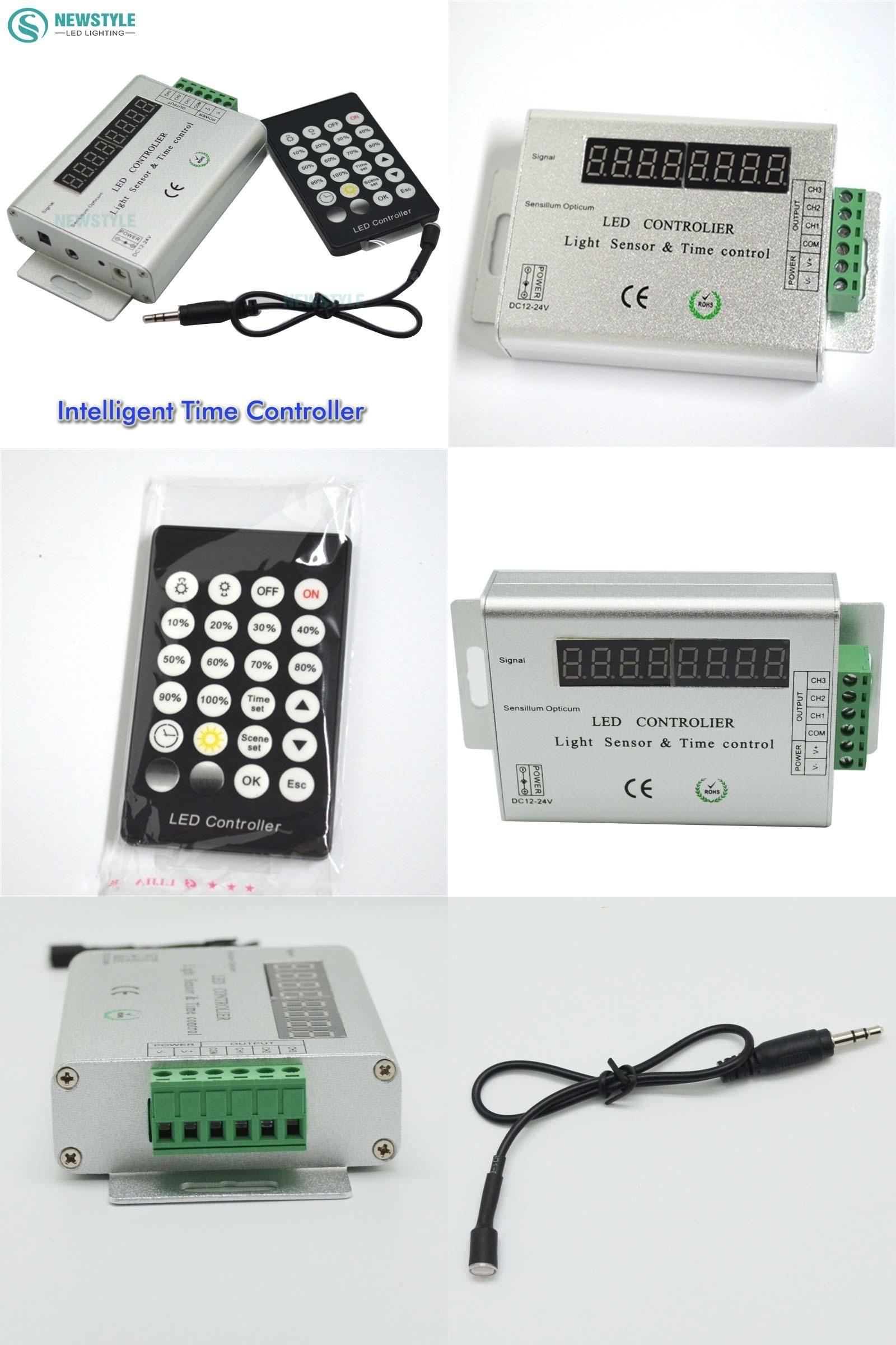 Visit To Buy 24 Keys 3 Channel 12v 24v Intelligent Light Sensor And Time Programmable Led Controller For Single Color L Light Sensor Led Controller Led Color