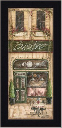 Bistro Cafe French Country Kitchen Decor Print Framed by Framed Art ...