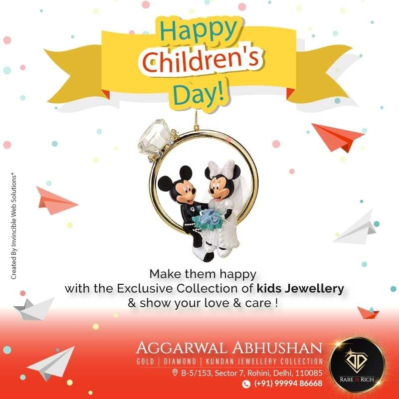 May the innocence in their smiles and the purity of their hearts stay forever unfaded. Wishing a joyful children's day to every kid in the world!  Aggarwal Abhushan  #children #kids #love #family #baby #child #education #parenting #fun #cute #toddler #preschool #instakids #mother #play #bhfyp #learning #toddlers #like #daycare #fashion #dad #birthday #newborn #portrait #adorable #girls #help #follow #party #babygirl #innocentparents
