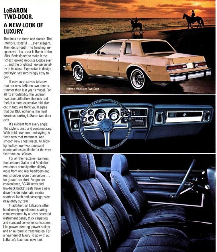1980 Dodge LeBaron. Canada or Mexico? Dodge, Chrysler