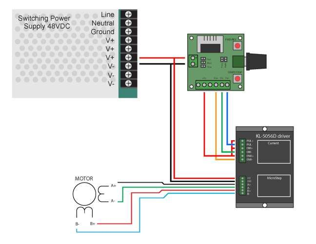 single axis pulse generator stepper controller wiring pulse generator latched on off output using a single