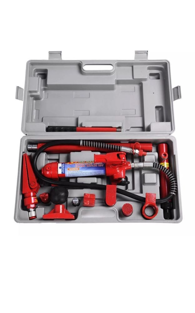 4 Ton Porta Power Hydraulic Jack Body Frame Repair Kit Auto Shop Tool Heavy Set Ebay Car Shop Kit Cars Repair