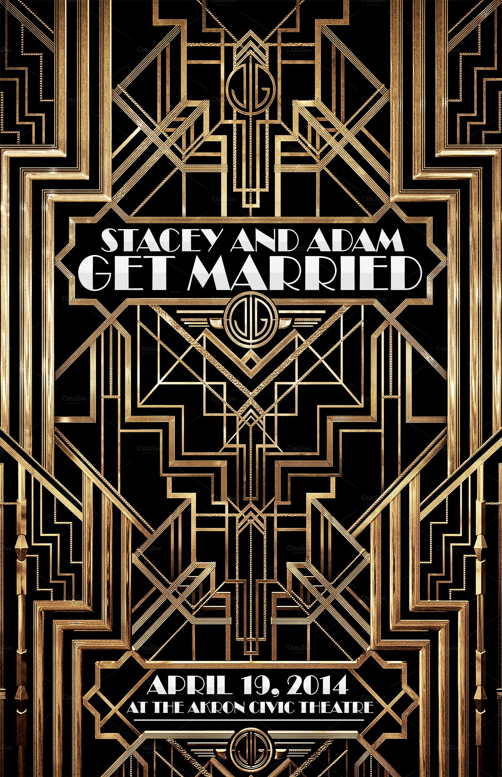 The great gatsby flyer weddings flyer only 4 design design imitating the cover of the movie the great gatsby flyer for weddings music event party festival or any other type classic fandeluxe Image collections