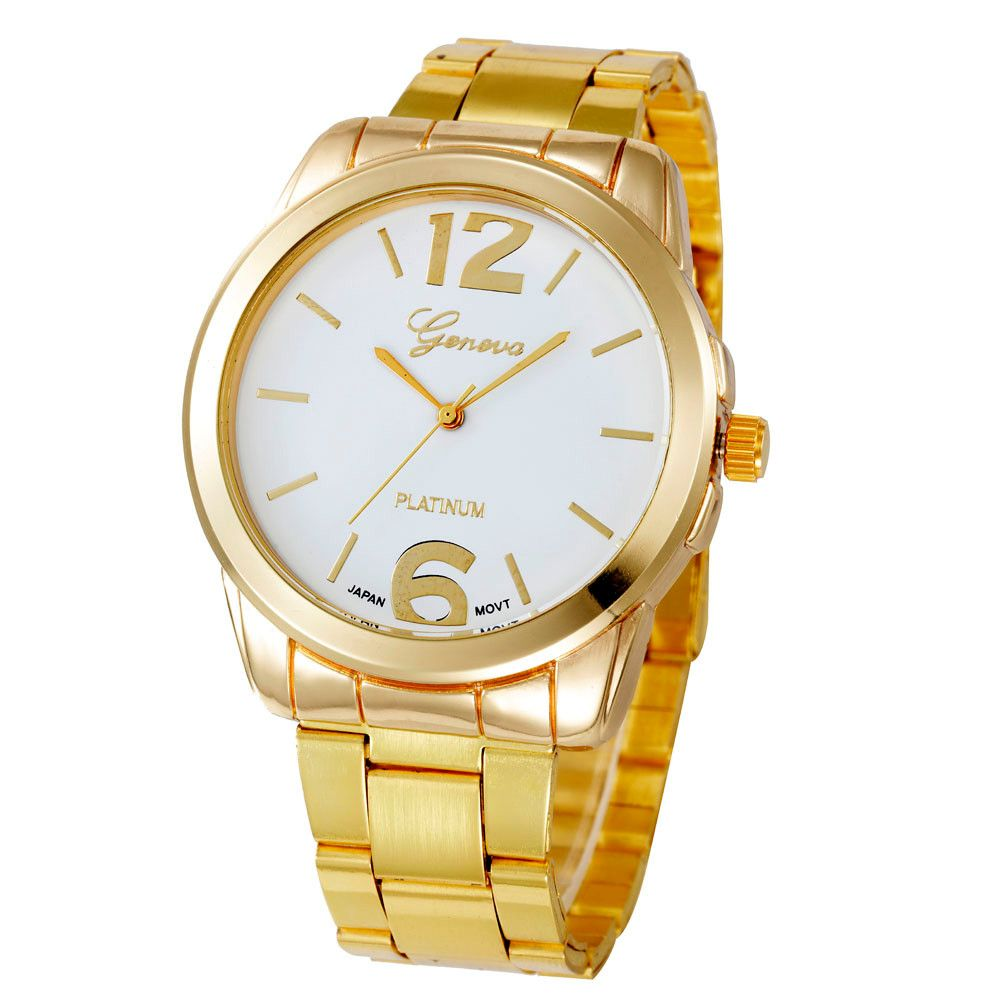 Click to buy ucuc fashion simple women watch alloy case bracelet clasp