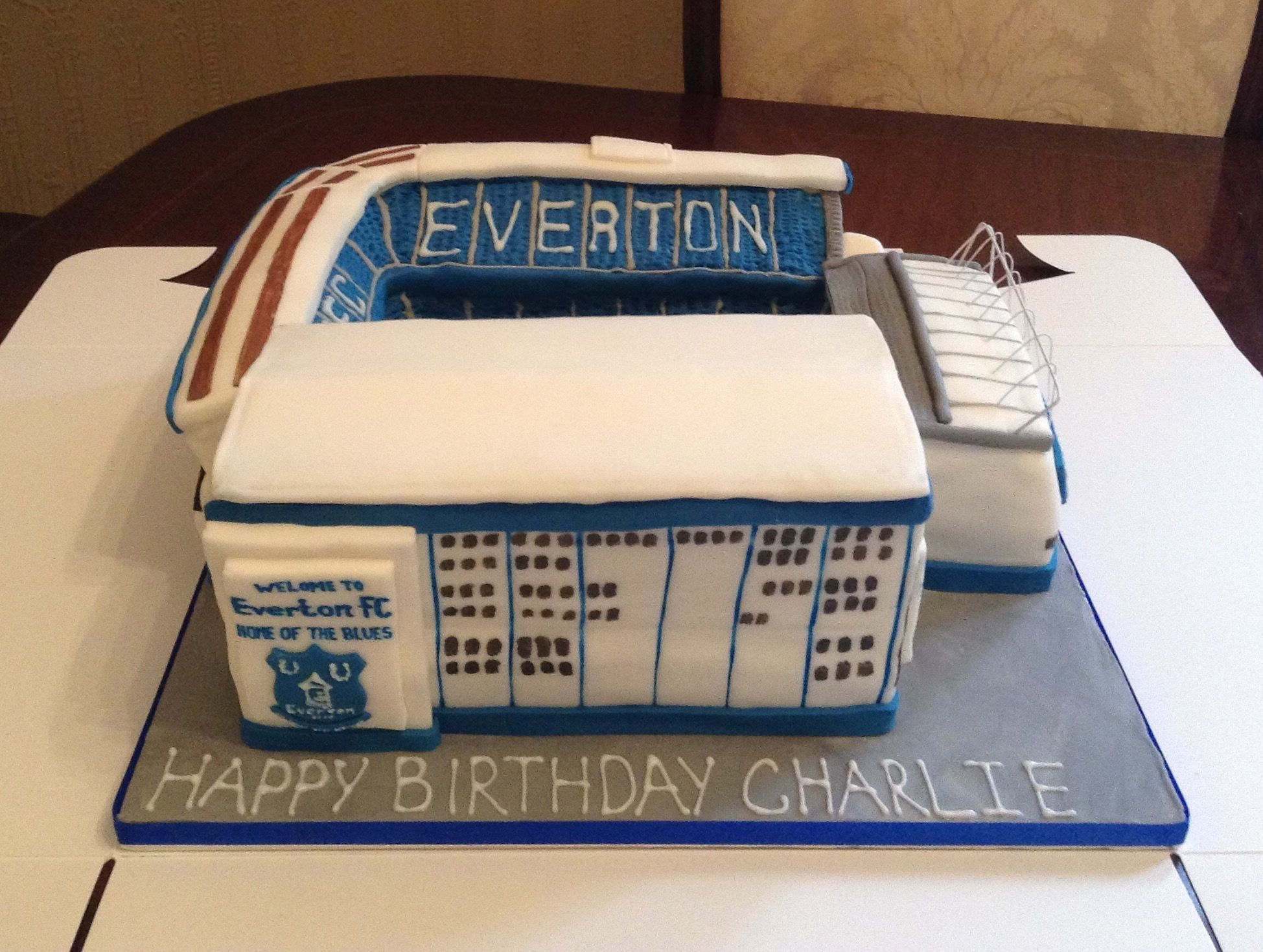 Goodison Park Everton Football Club Cake From Cakes By Nicky