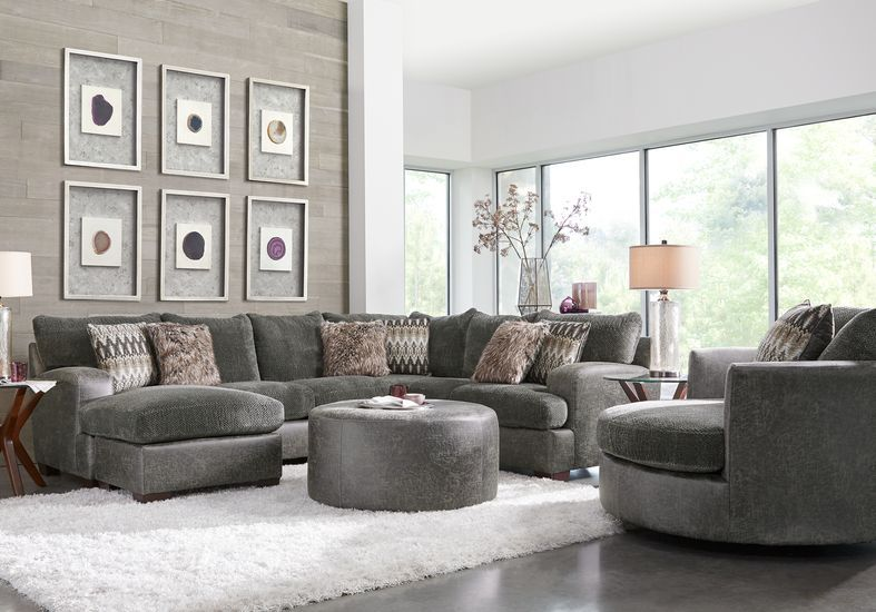 Skyline Park Gray 2 Pc Sectional Living Room Sectional Living