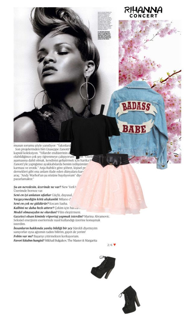 """""""Rihanna Concert"""" by xwildfangirlx ❤ liked on Polyvore featuring Balmain, Miss Selfridge, Breckelle's and Rihanna"""