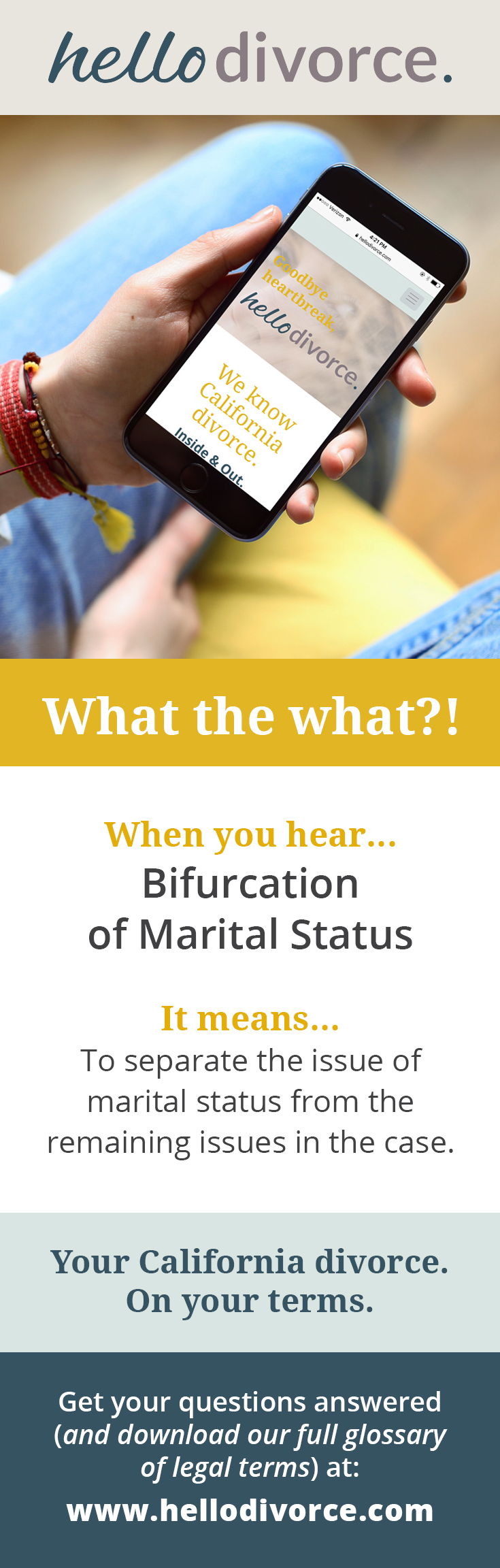 What Does Bifurcation Of Marital Status Mean Legalese Can Be So Hard To Understand That S Why We Created A Glossary T Divorce And Kids Divorce Document Sign