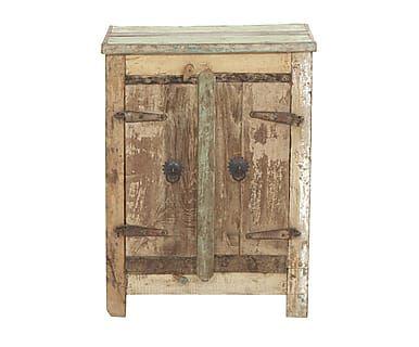 Table de chevet, naturel clair - H63 chaux craie effets peinture - Peindre Table De Chevet