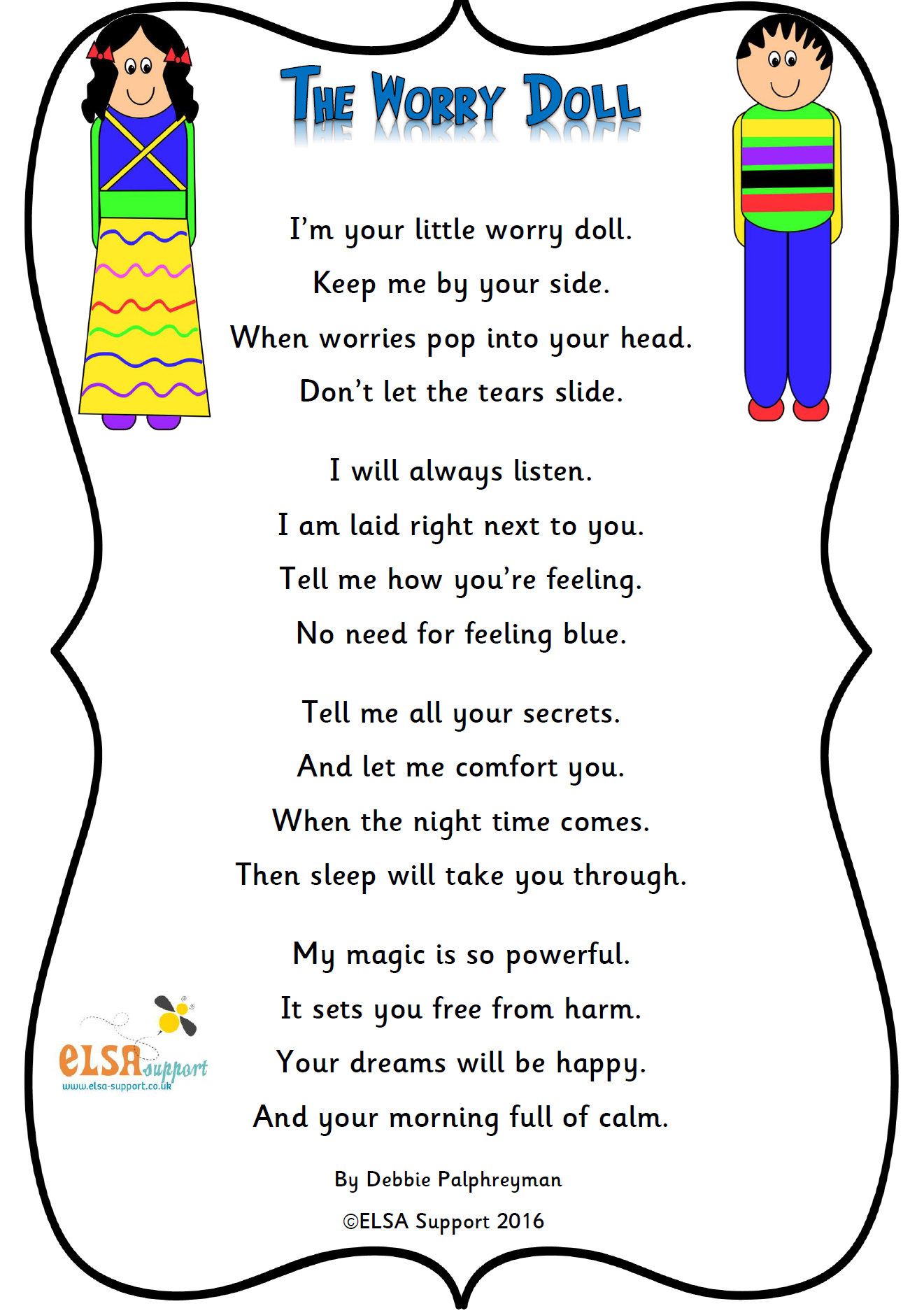 Worry Doll Poem