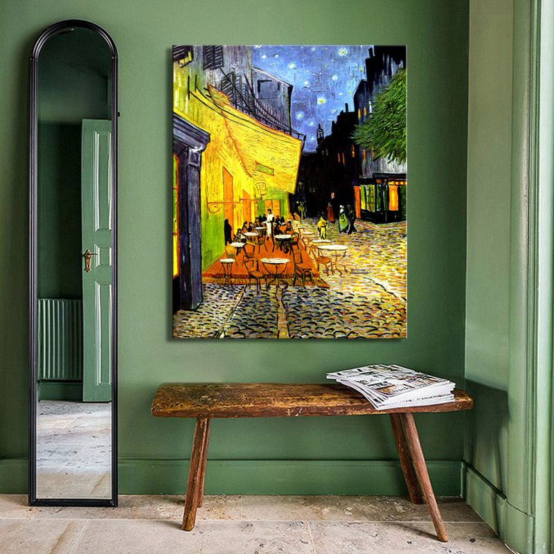 Vincent Van Gogh  Cafe terrace At Night Canvas Print Wall Art Picture