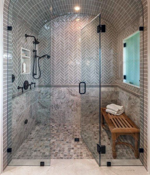 Home Design Ideas For Seniors: 10+ Walk-in Shower With Seat Ideas