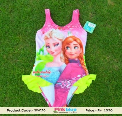 One piece Swimming Costume Baby Frozen Elsa #Swimwear Swimming Pool Dress for Little Girls Bathing Suit for Infant Girl Toddler #Swimsuit Frilly ...  sc 1 st  Pinterest & One piece Swimming Costume Baby Frozen Elsa #Swimwear Swimming ...