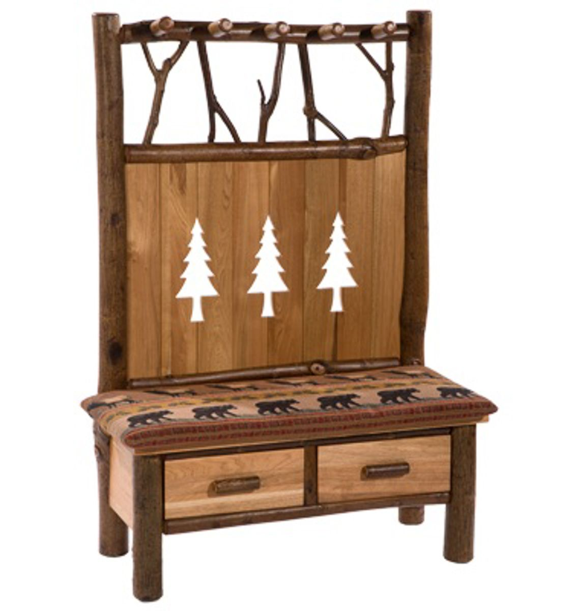 Incredible Storage Bench 2 Drawers And 5 Hook Coat Rack 599 00 Wood Machost Co Dining Chair Design Ideas Machostcouk