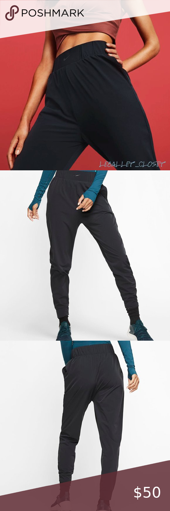 NWT NIKE Bliss Lux Slim Fit Training Pants Size M