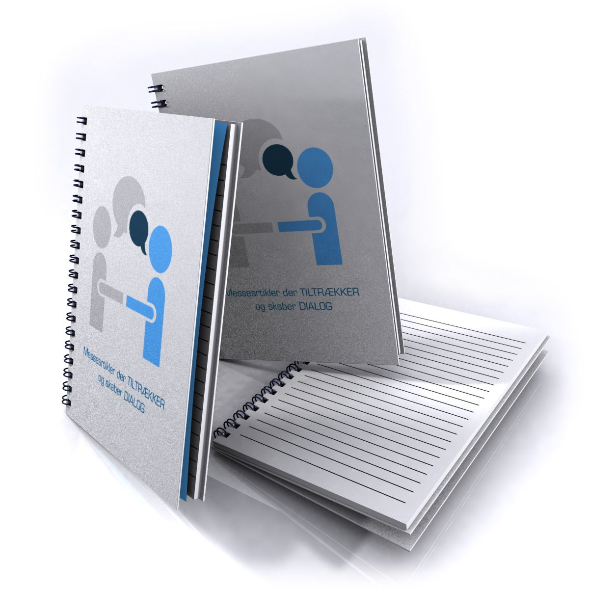 Spiral Notebook with the print of your logo, product or brand symbol.