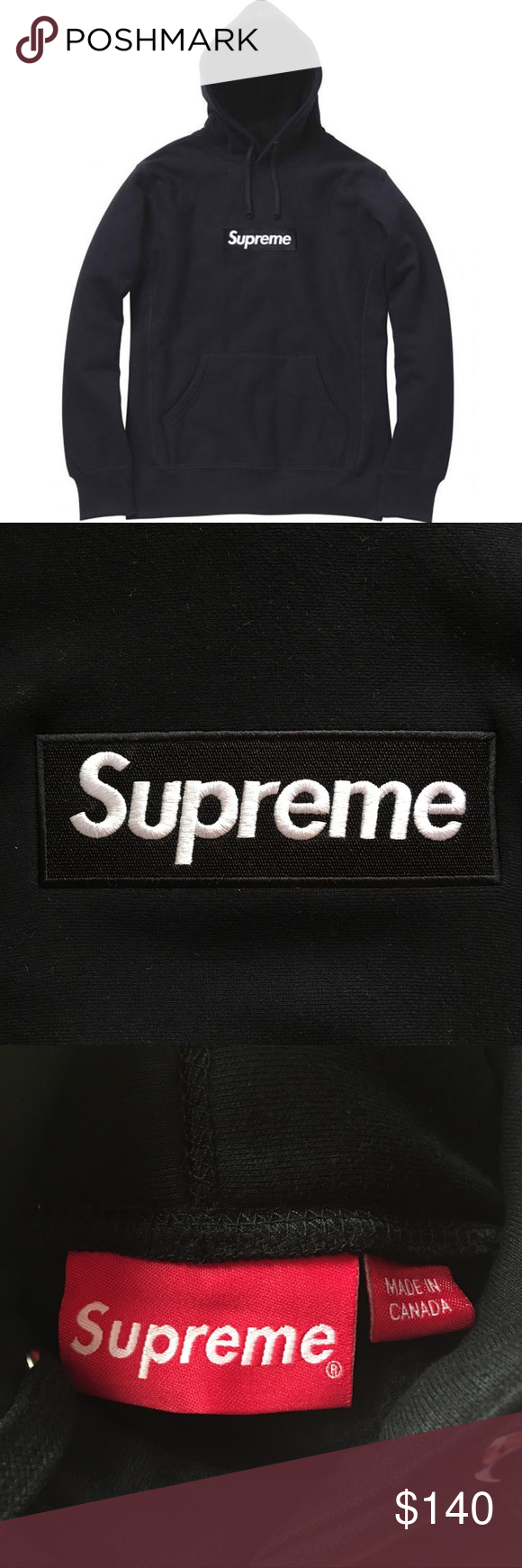 Black Supreme Box Logo Pullover Hooded Sweatshirt Fw13 Hoodie From Supreme Product Is Same As Photos Shown And Wil Sweatshirt Shirt Sweatshirts Supreme Shirt [ 1740 x 580 Pixel ]