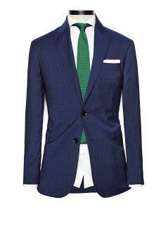 Pinstripe suit trousers - Men - H.E. BY MANGO