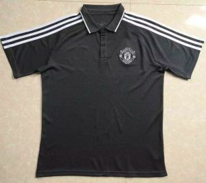 Manchester United 17-18 Season Black Man Utd Polo Shirt [J682]