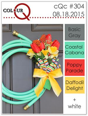 colourQ: colourQ challenge #304...Basic Gray, Coastal Cabana, Poppy Parade, Daffodil Delight