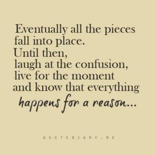 Laugh at the confusion, Live for the moment