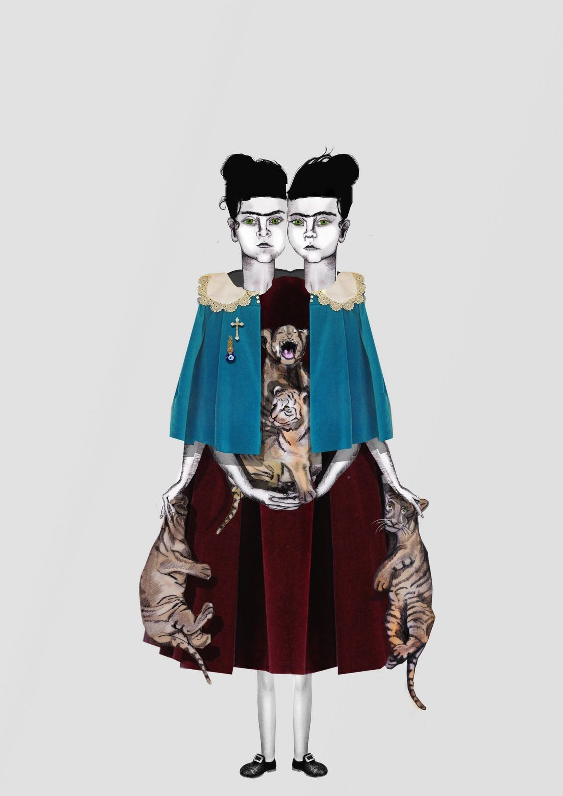 Catholic Girls | Petros Varnava / Graphic Design + Illustration. http://petrosvarnava.blogspot.com/