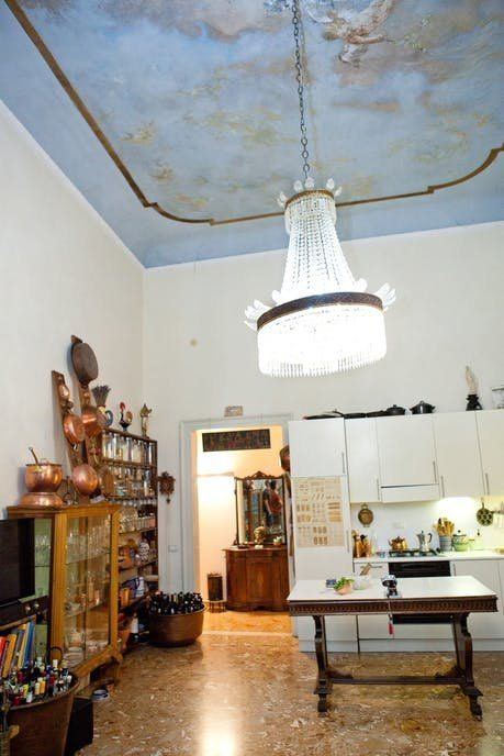 Photo of An Italian Chef's Maximalist Apartment Is Actually in an Old Castle