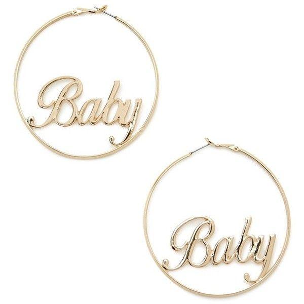 48f2bd4e0 Forever21 Baby Hoop Earrings ($5.90) ❤ liked on Polyvore featuring jewelry,  earrings, forever 21 earrings, hoop earrings, earring jewelry, forever 21  ...