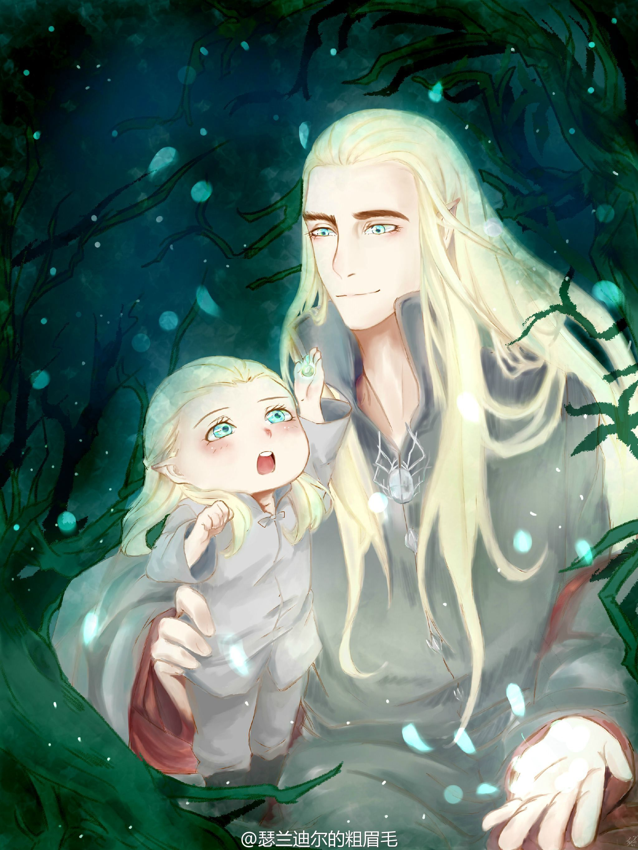thranduil and little legolas house of oropher