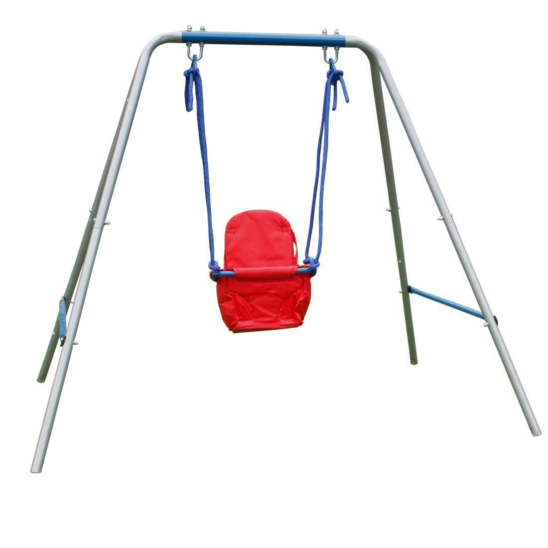 BestValue GO 5.5 FT High Toddler Baby Swing Seat with Frame for 1 to ...