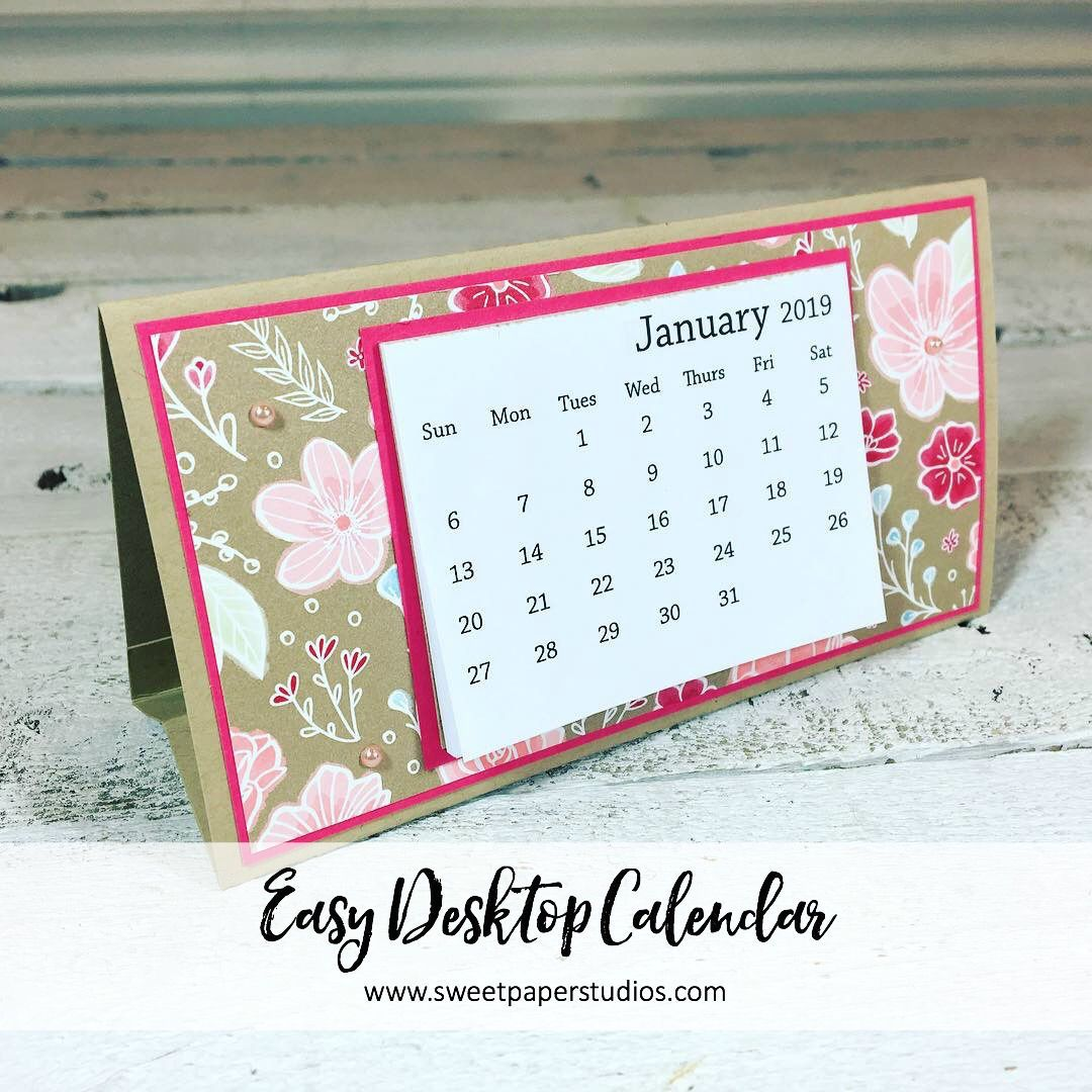 Easy Desktop Calendar Tutorial W Video Desktop Calendar Stamp Projects Calendar Design