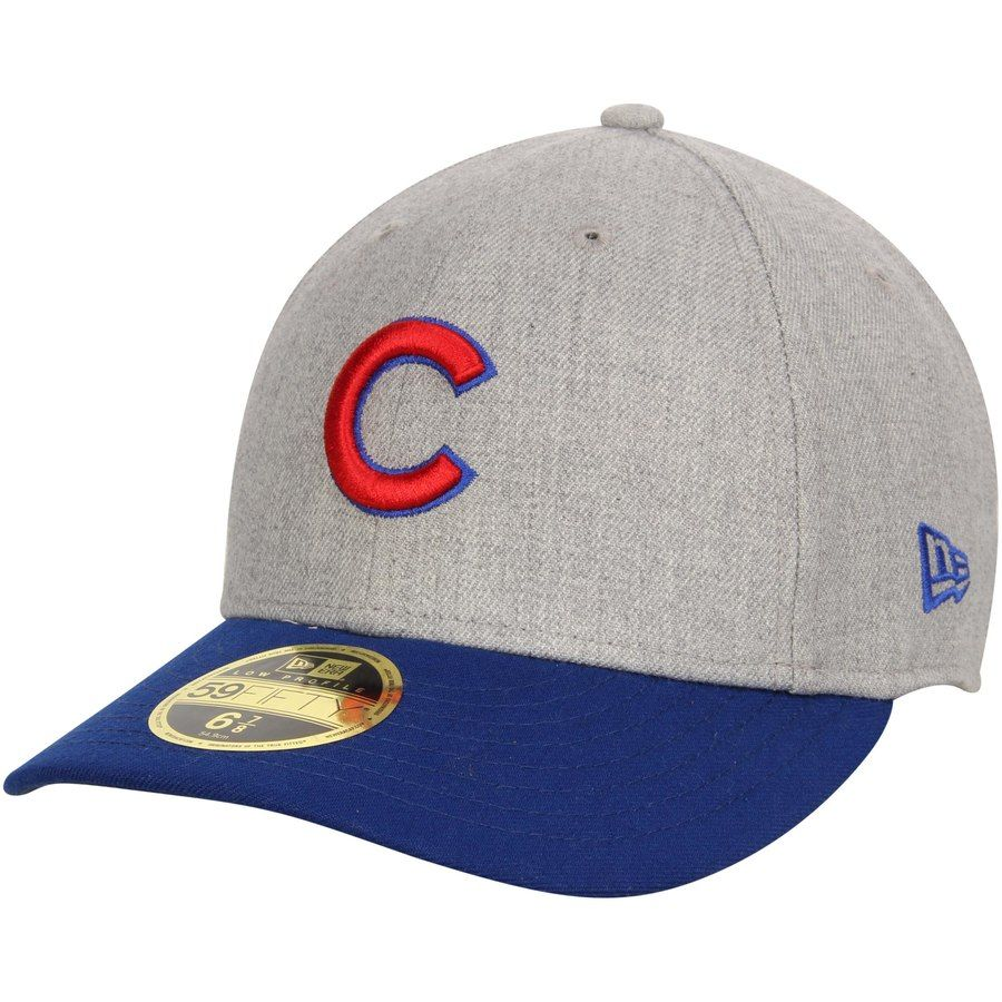 041f5f7e09d Men s Chicago Cubs New Era Heathered Gray Royal Change Up Low Profile  59FIFTY Fitted Hat